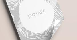 Stampa in bianco e nero, fronte e retro