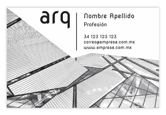Tarjeta de Presentación 85 x 55 mm