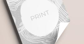 Printing Black and White, slechts Voorzijde