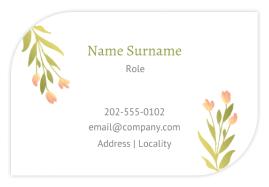 Business Cards 55 x 85mm (Leaf Format)