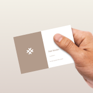 Business Card with no extra