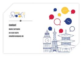 Business Cards 85 x 55mm (Trimmed corner)